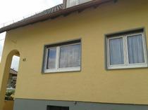 Fassadengestaltung, Fassade, Haus, streichen, Fenster lackieren, Ablaufrohr lackieren